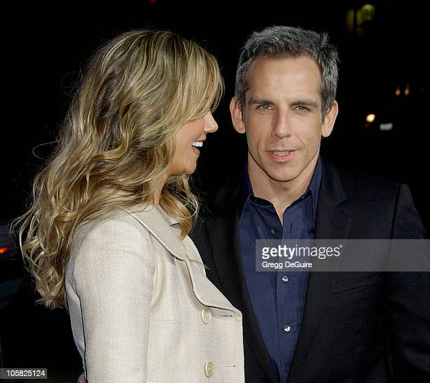 Ben Stiller and Christine Taylor during 'Blades Of Glory' Los Angeles Premiere Arrivals at Grauman's Chinese Theatre in Hollywood California United...