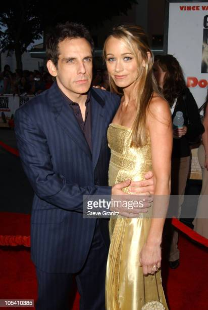 "Ben Stiller and Christine Taylor during ""DodgeBall: A True Underdog Story"" World Premiere - Arrivals at Mann Village Theatre in Westwood, California,..."