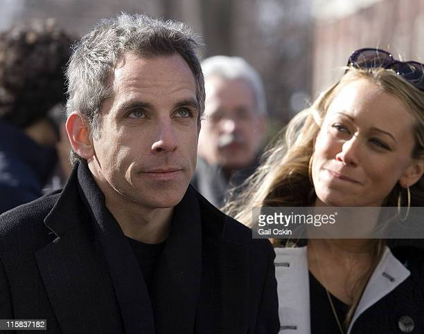 Ben Stiller and Christine Taylor during Harvard's Hasty Pudding Club's 2007 Man of the Year Ben Stiller at Harvard in Cambridge, Massachussetts,...