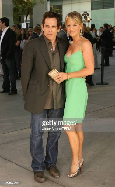 "Ben Stiller and Christine Taylor during ""License To Wed"" Los Angeles Premiere - Arrivals at Cinerama Dome in Hollywood, California, United States."