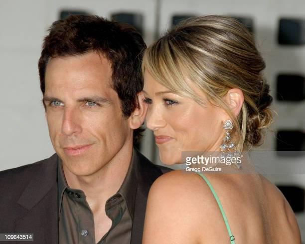 """Ben Stiller and Christine Taylor during """"License To Wed"""" Los Angeles Premiere - Arrivals at Cinerama Dome in Hollywood, California, United States."""