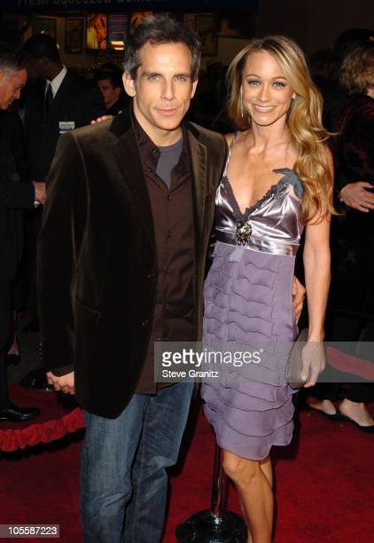 "Ben Stiller and Christine Taylor during ""Meet The Fockers"" Los Angeles Premiere - Arrivals at Universal Amphitheatre in Universal City, California,..."