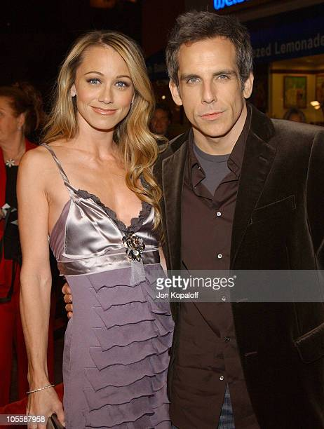 Ben Stiller and Christine Taylor during Meet the Fockers Los Angeles Premiere at Universal Amphitheatre in Universal City California United States