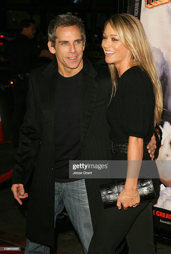 Ben Stiller and Christine Taylor during 'Tenacious