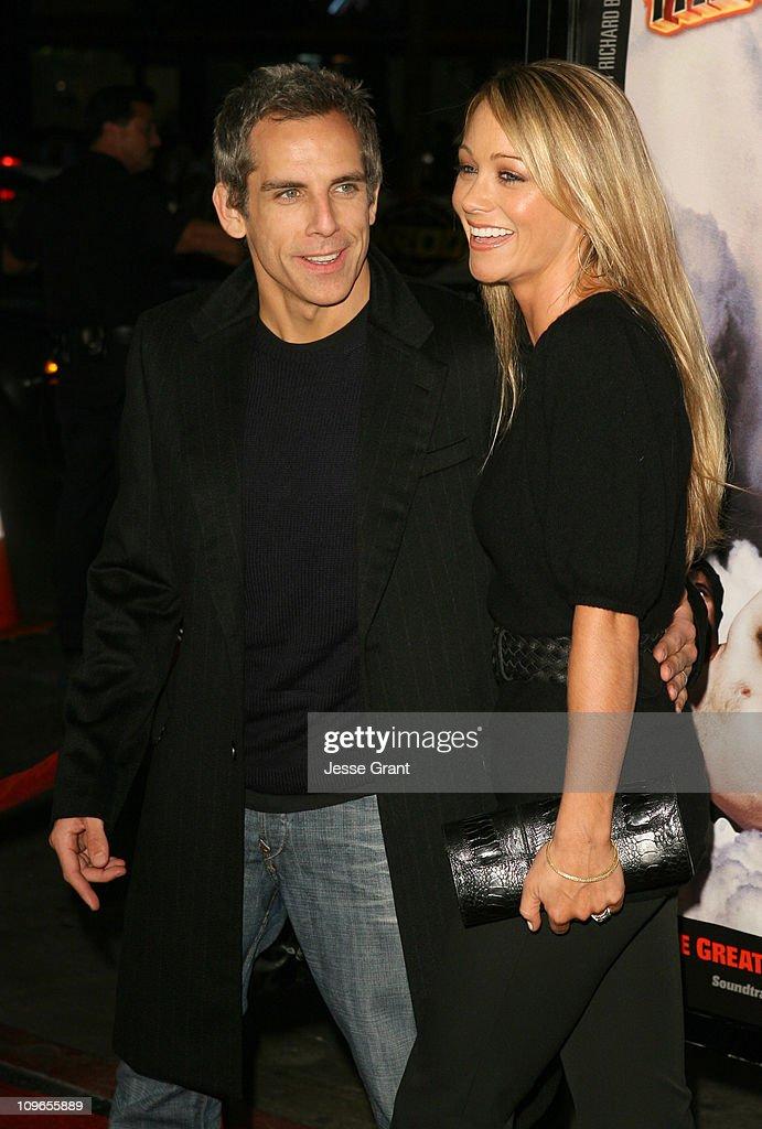 Ben Stiller and Christine Taylor during 'Tenacious