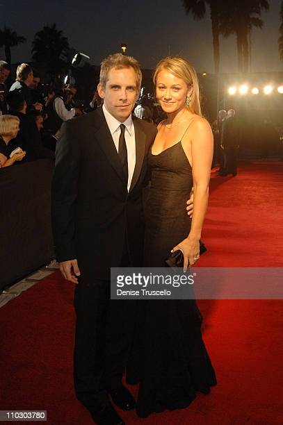 Ben Stiller and Christine Taylor during The Andre Agassi Charitable Foundation's 11th Annual Grand Slam for Children Fundraiser Red Carpet at MGM...