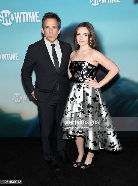 Ben Stiller and Ella Olivia Stiller attend the Escape At Dannemora New York Series Premiere at Alice Tully Hall Lincoln Center on November 14 2018 in...