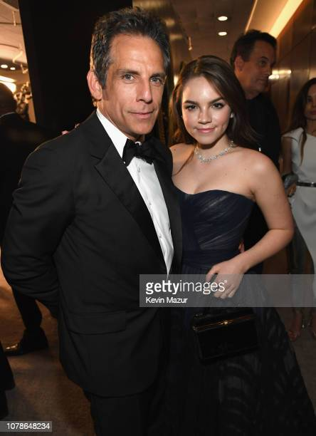 Ben Stiller and Ella Stiller attend the 2019 InStyle and Warner Bros. 76th Annual Golden Globe Awards Post-Party at The Beverly Hilton Hotel on...