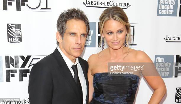 Ben Stiller and his wife Christine Taylor attend the Centerpiece Gala Presentation Of The Secret Life Of Walter Mitty during the 51st New York Film...