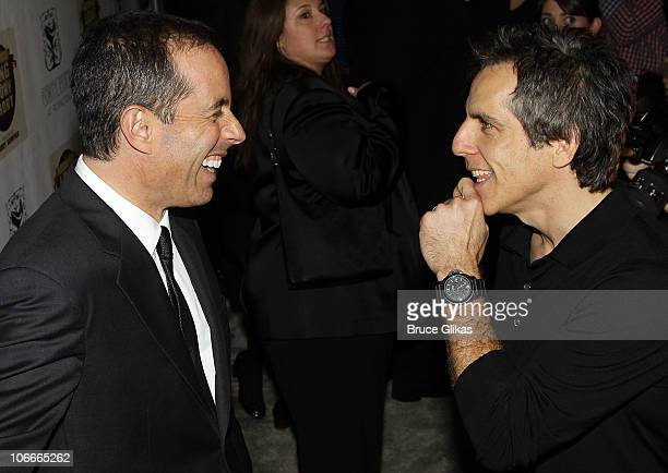 Ben Stiller and Jerry Seinfeld at the Opening Night After Party for Colin Quinn Long Story Short on Broadway at Forty Four at the Royalton on...