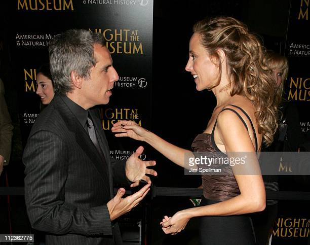 Ben Stiller and Kim Raver during Night at the Museum New York Premiere Arrivals at The American Museum of Natural History in New York City New York...
