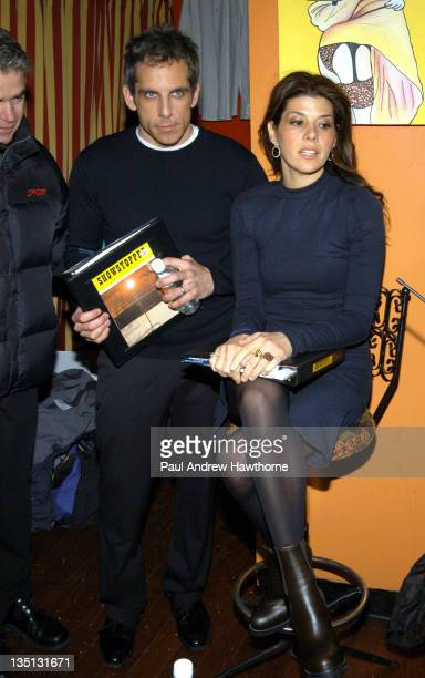 Ben Stiller and Marisa Tomei during Nantucket Film Festival with Broadway Cares/Equity Fights Aidsv Host Reading of Original Screenplay 'Showstopper'...