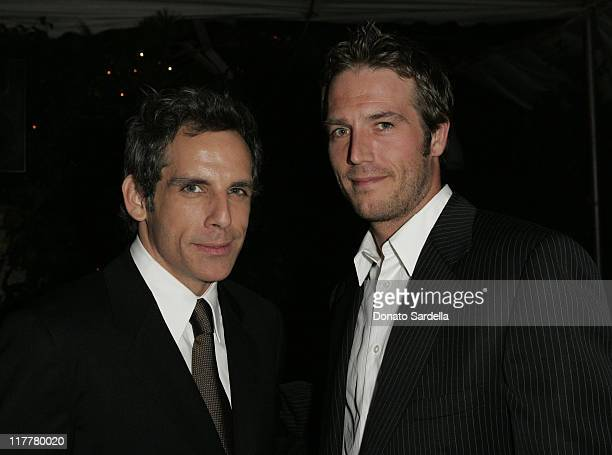 Ben Stiller and Michael Vartan during Ben Stiller and Christine Taylor Host a Grand Classics Screening of 'Sweet Smell of Success' with YSL at the...