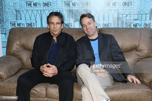 Ben Stiller and Mike Birbiglia attend the opening night of Mike Birbiglia The New One at the Cherry Lane Theatre on August 2 2018 in New York City