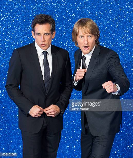 Ben Stiller and Owen Wilson attend a London Fan Screening of the Paramount Pictures film Zoolander No 2 at Empire Leicester Square on February 4 2016...