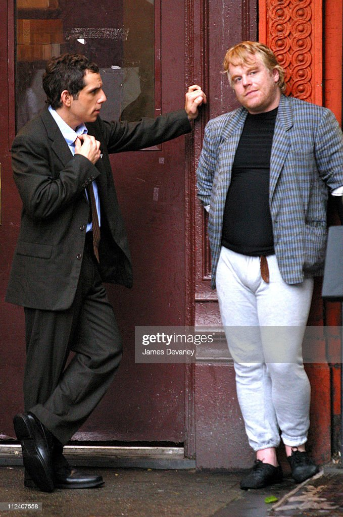 Ben Stiller and Philip Seymour Hoffman On Location for Untitled Film