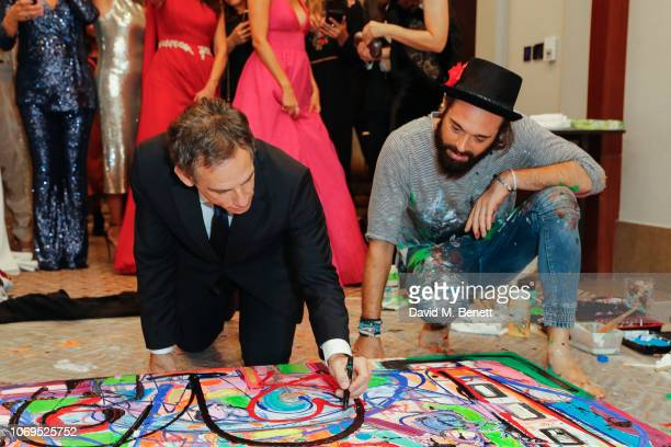 Ben Stiller and Sacha Jafri attend the Artists for Peace and Justice Bovet 1822 Gala on December 7 2018 in Dubai United Arab Emirates Photo by David...