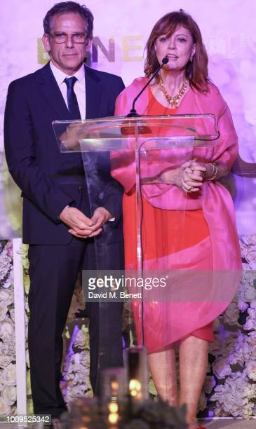 Ben Stiller and Susan Sarandon the Artists for Peace and Justice Bovet 1822 Gala on December 7 2018 in Dubai United Arab Emirates Photo by David M...