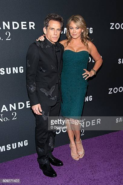 Ben Stiller and wife Christine Taylor attend the 'Zoolander 2' world premiere at Alice Tully Hall on February 9 2016 in New York City