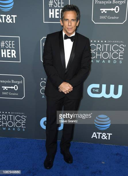 Ben Stiller arrives at the The 24th Annual Critics' Choice Awards attends The 24th Annual Critics' Choice Awards at Barker Hangar on January 13 2019...