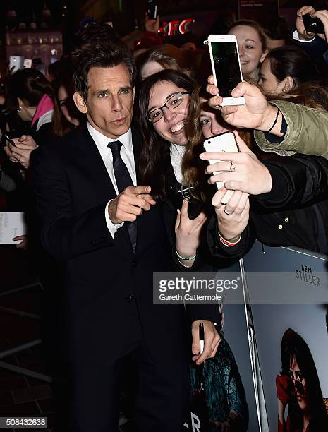 Ben Stiller attends a London Fan Screening of the Paramount Pictures film Zoolander No 2 at the Empire Leicester Square on February 4 2016 in London...