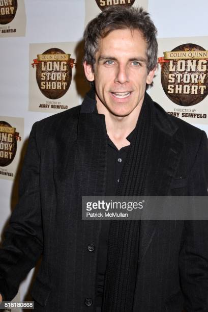Ben Stiller attends COLIN QUINN LONG STORY SHORT OPENING NIGHT DIRECTED BY JERRY SEINFELD at Helen Hayes Theatre on November 9 2010 in New York City