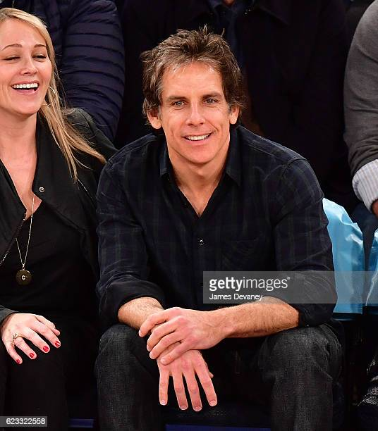 Ben Stiller attends New York Knicks vs Dallas Mavericks game at Madison Square Garden on November 14 2016 in New York City