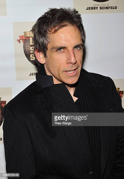 Ben Stiller attends the Broadway opening of Colin Quinn Long Story Short at the Helen Hayes Theatre on November 9 2010 in New York City