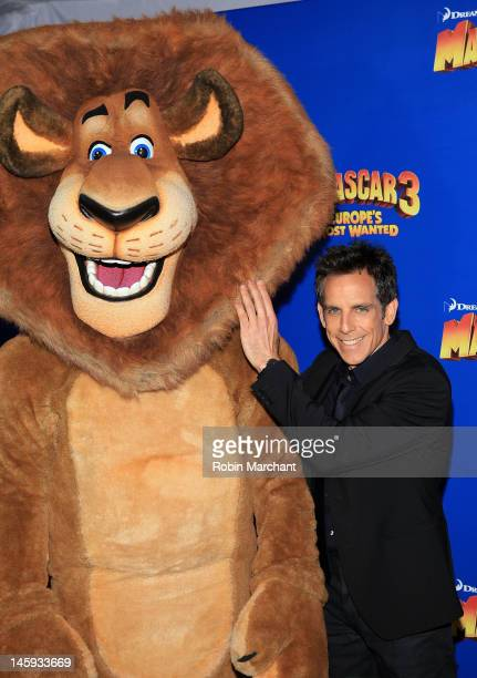 """Ben Stiller attends the """"Madagascar 3: Europe's Most Wanted"""" premiere at the Ziegfeld Theatre on June 7, 2012 in New York City."""