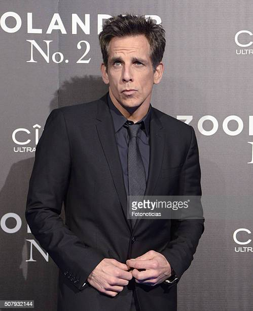 Ben Stiller attends the Madrid Fan Screening of the Paramount Pictures film 'Zoolander No 2' at the Capitol Cinema on February 1 2016 in Madrid Spain