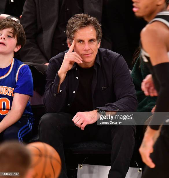 Ben Stiller attends the New York Knicks Vs San Antonio Spurs game at Madison Square Garden on January 2 2018 in New York City
