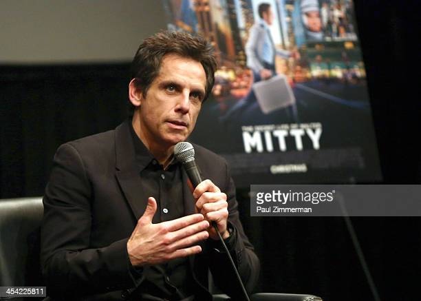 """Ben Stiller attends """"The Secret Life of Walter Mitty"""" and """"Zoolander"""" special New York screenings at The Film Society of Lincoln Center on December..."""