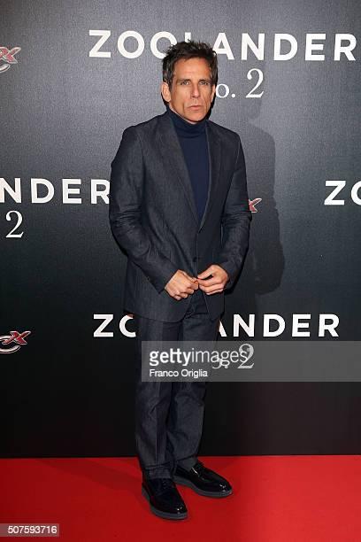 Ben Stiller attends the 'Zoolander No 2' Rome Fan Screening on January 30 2016 in Rome Italy