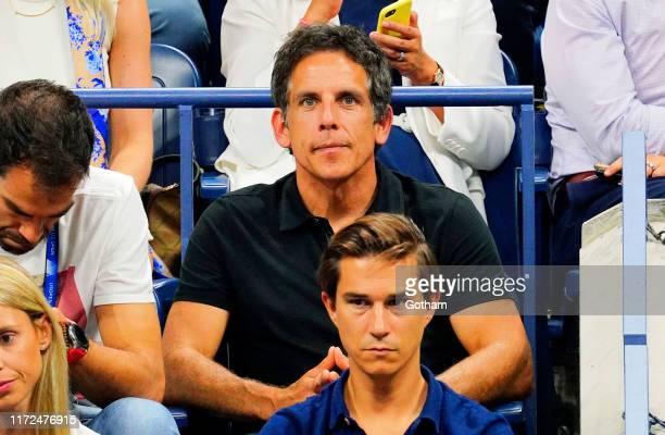Ben Stiller cheers on Rafael Nadal at the 2019 US Open on September 04, 2019 in New York City.
