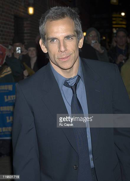 """Ben Stiller during Cate Blanchett, Ben Stiller and Jay Thomas Visits the """"Late Show with David Letterman"""" - December 18, 2006 at Ed Sullivan Theater..."""