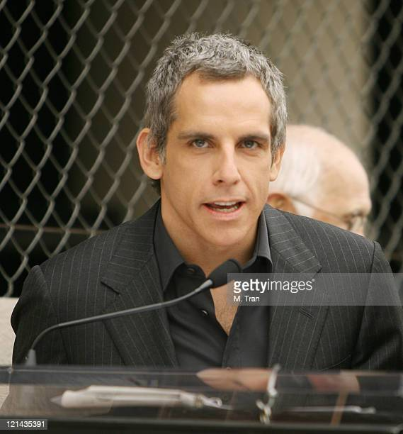 Ben Stiller during Jerry Stiller and Anne Meara Honored with a Star on the Hollywood Walk of Fame at 7018 Hollywood Blvd in Hollywood California...