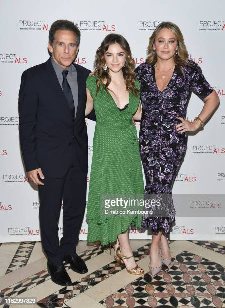 Ben Stiller, Ella Olivia Stiller and Christine Taylor attend Project ALS 21st Annual New York City Gala at Cipriani 42nd Street on October 23, 2019...