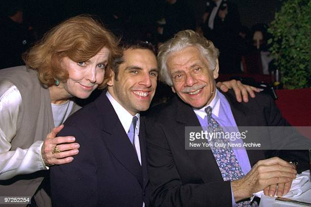 Ben Stiller is joined by his parents Jerry Stiller and Anne Meara at the premiere benefit party for the movie Flirting with Disaster at Laura Belle...