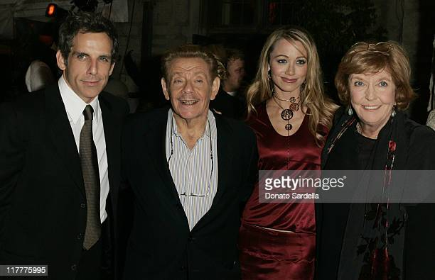 Ben Stiller, Jerry Stiller, Christine Taylor and Anne Meara