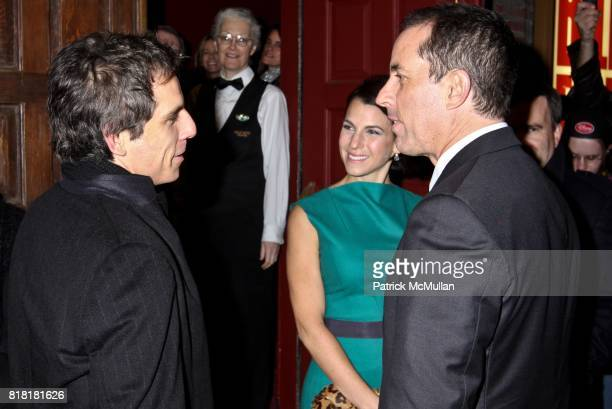 Ben Stiller Jessica Seinfeld and Jerry Seinfeld attend COLIN QUINN LONG STORY SHORT OPENING NIGHT DIRECTED BY JERRY SEINFELD at Helen Hayes Theatre...