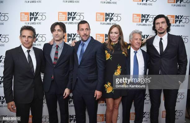 Ben Stiller Noah Baumbach Adam Sandler Elizabeth Marvel Dustin Hoffman and Adam Driveattend The 55th New York Film Festival Meyerowitz at Alice Tully...