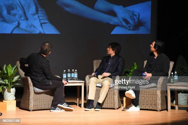 Ben Stiller Noah Baumbach and Adam Driver speak onstage during 'In Their Shoes' at the 2018 Nantucket Film Festival Day 5 on June 24 2018 in...