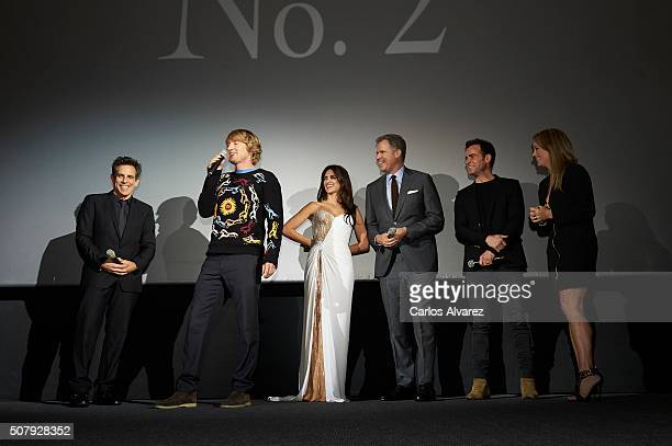 Ben Stiller Owen Wilson Penelope Cruz Will Ferrell Justin Theroux and Christine Taylor attend the Madrid Fan Screening of the Paramount Pictures film...
