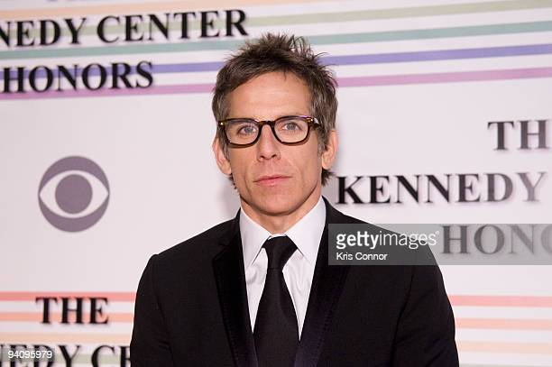 Ben Stiller poses for photographers on the red carpet before the 32nd Kennedy Center Honors at Kennedy Center Hall of States on December 6 2009 in...