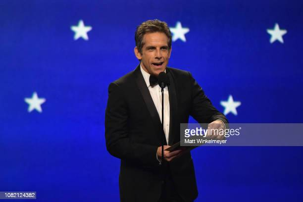Ben Stiller presents the award for Best Actor in a Comedy Movie onstage during the 24th annual Critics' Choice Awards at Barker Hangar on January 13...