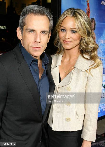 Ben Stiller producer and Christine Taylor during Blades of Glory Los Angeles Premiere Red Carpet at Mann's Chinese Theater in Hollywood California...