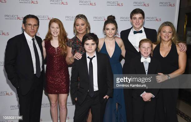 Ben Stiller Quinn Stiller Christine Taylor Ella Olivia Stiller with guests attend The 2018 Project ALS Gala at Cipriani 42nd Street on October 24...