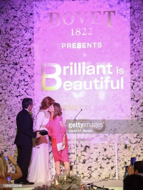 Ben Stiller Sarah Ferguson Duchess of York and Susan Sarandon the Artists for Peace and Justice Bovet 1822 Gala on December 7 2018 in Dubai United...