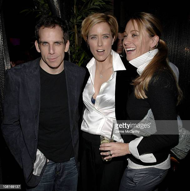 Ben Stiller Tea Leoni and Christine Taylor during House Of D New York Premiere After Party at Aer at Aer in New York City New York United States