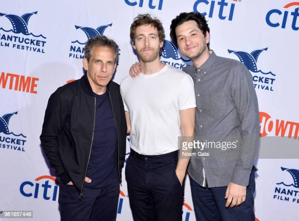 Ben Stiller Thomas Middleditch and Ben Schwartz attend the AllStar Comedy Roundtable The Improv Takeover during the 2018 Nantucket Film Festival Day...